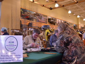 Jan 17th & 18th fly tying at Cabelas
