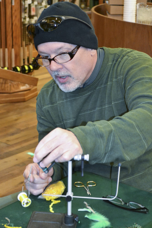 Mike Renish trying his hand at Packer fly