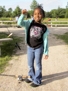 Blue gills, and fisherladies, come in all sizes