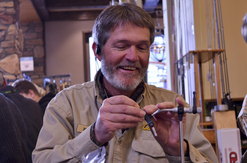 Brian Mease is always happy to help teach fly tying