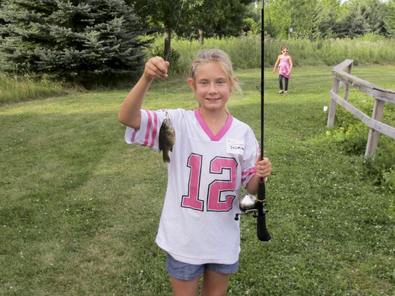Very proud Rodgers backer with her Bluegill