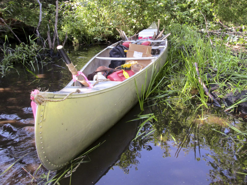 Canoe ferried in supplies