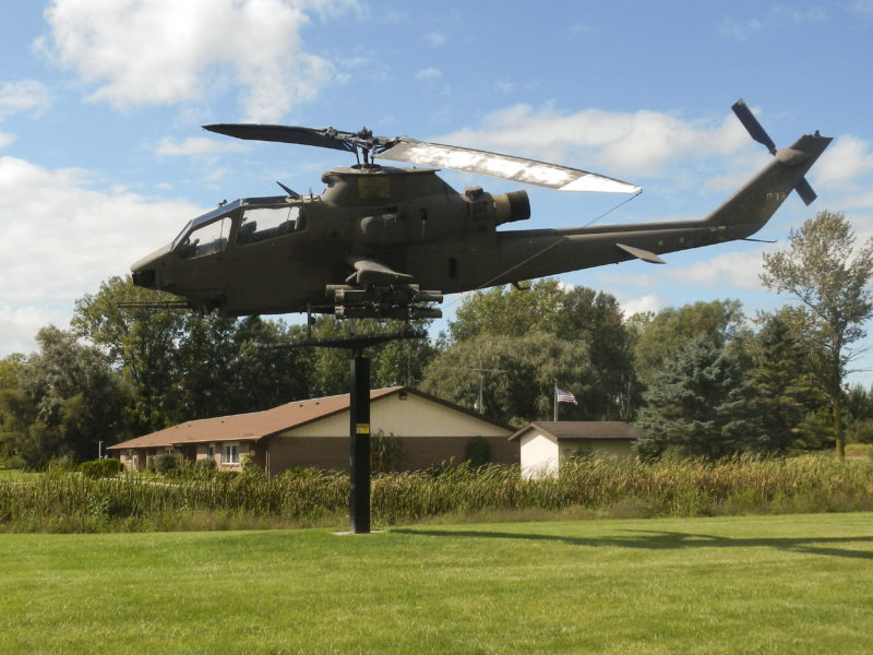Cobra helicopter on display at park