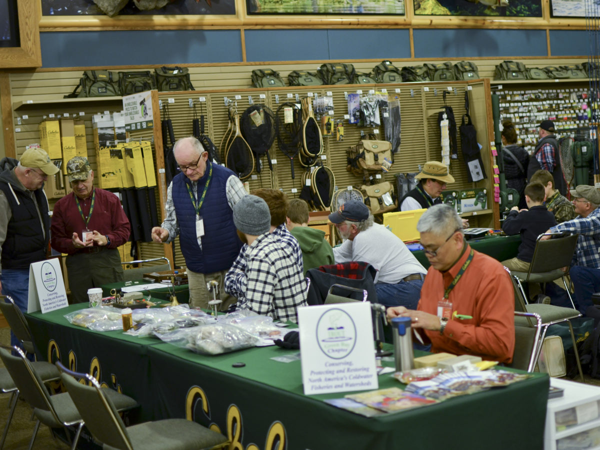 Fly tying crew very busy on Saturday March 25th