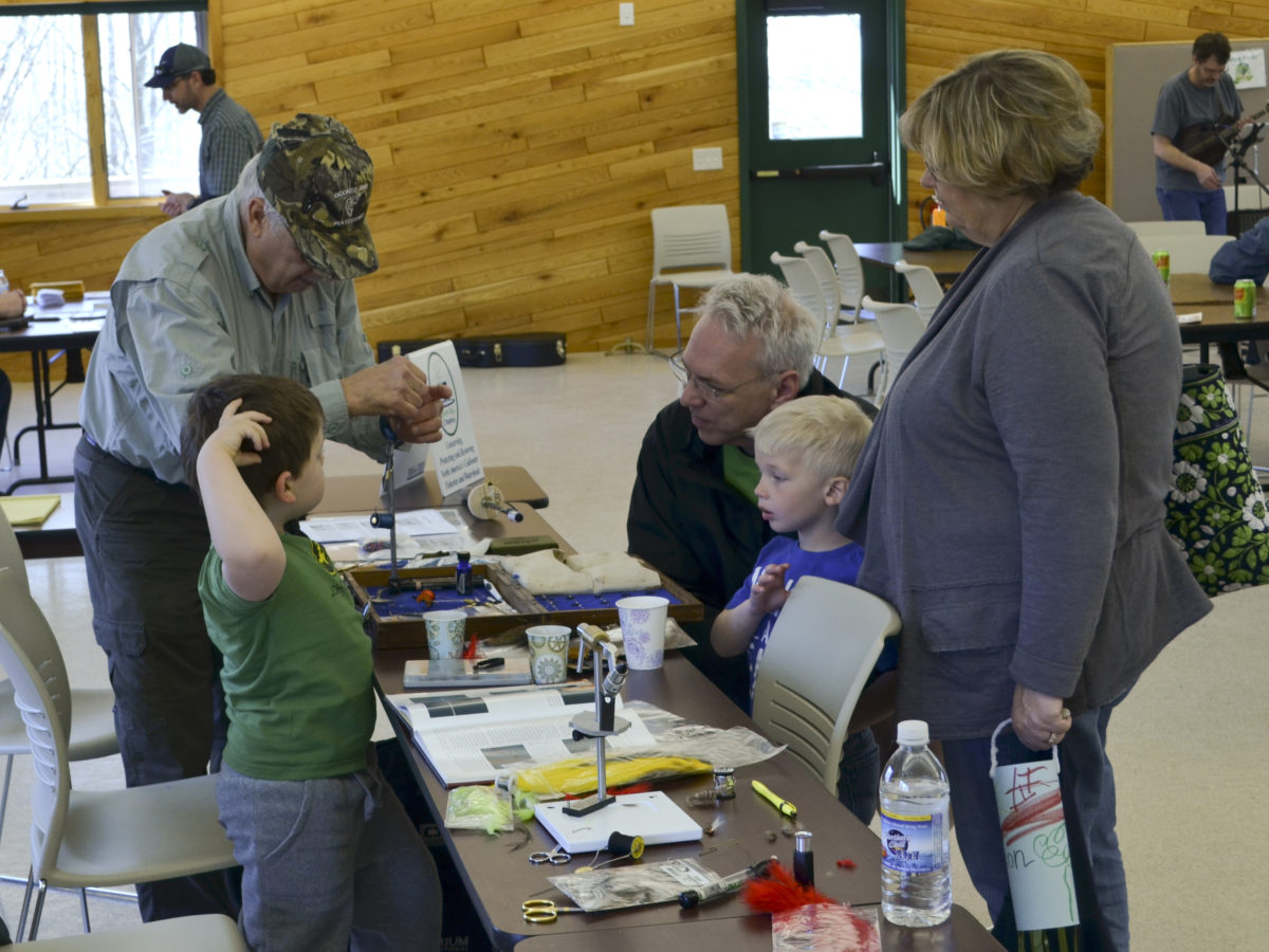 Wayne getting the whole family involved on Panfish fly choices