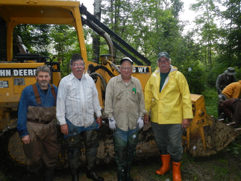 Jim VanderBranden, Bruce Duechert, Mitch Bent and Cliff Sebero: working on same site 30 years later.  THANK YOU FOR YOUR DEDICATION !