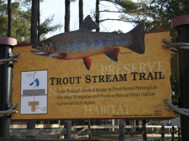 The Trout Unlimited sign at NEW Zoo
