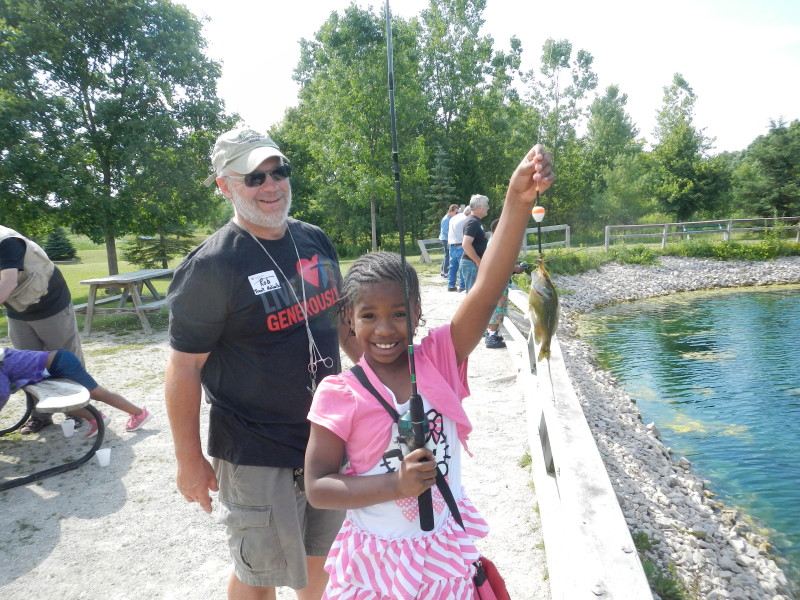 Green bay trout unlimited kids fishing day summary for Fishing access near me