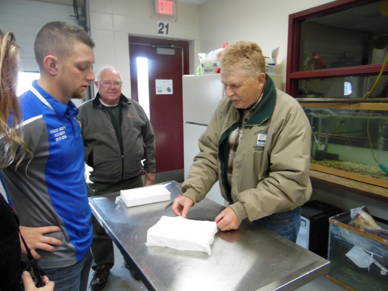 Trout eggs delivered on schedule