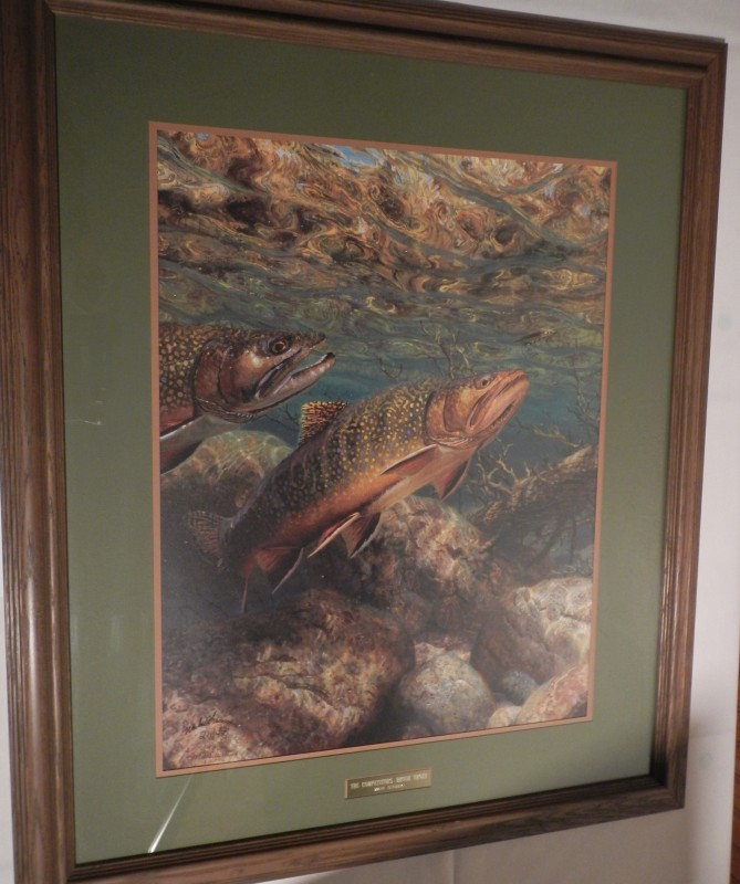 Brook trout painting looks great image