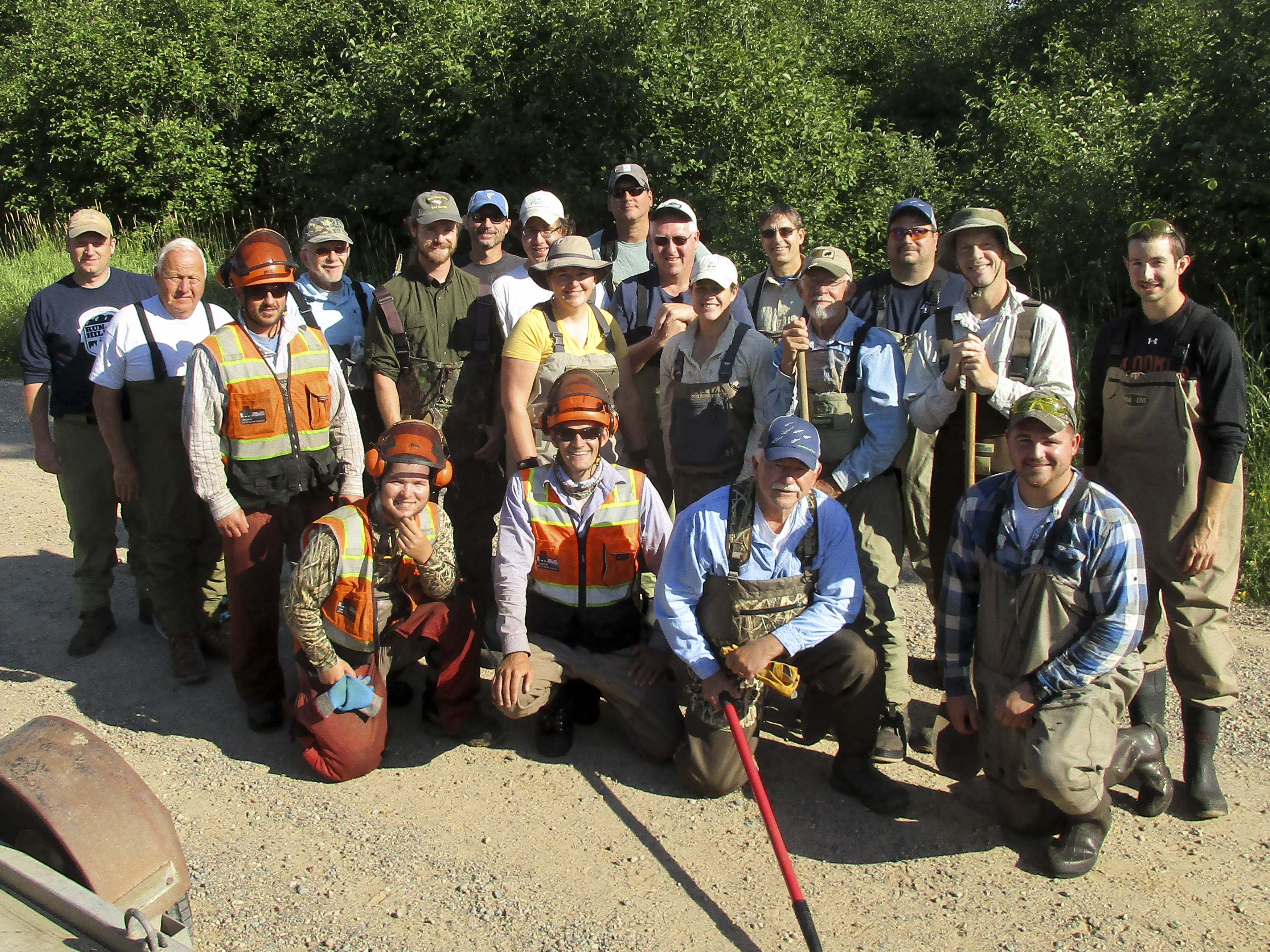 North Branch Oconto Trout Habitat Crew picture