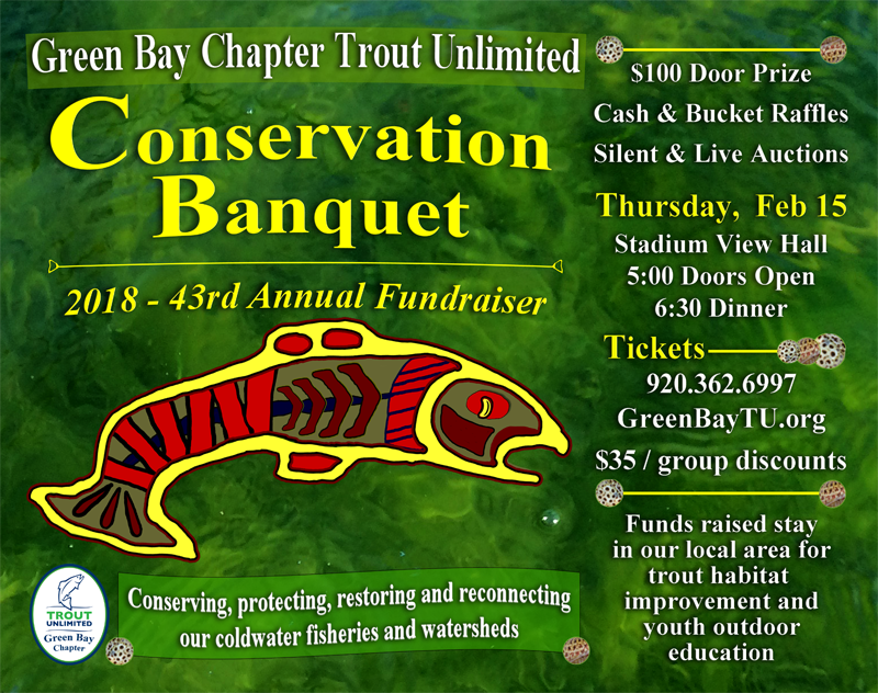 2018 Green Bay Trout Unlimited (GBTU) Banquet Poster